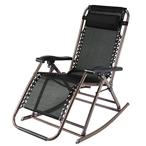 Infinity Zero Gravity Rocking Chair Outdoor Lounge Patio Rocking Recliner Garden Chair
