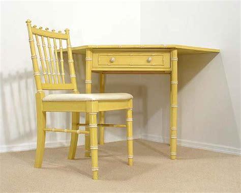 faux bamboo regency yellow corner desk set