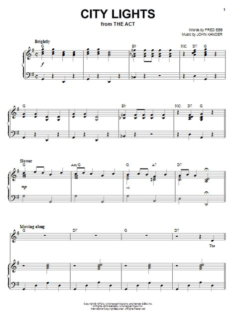 City Lights Songs by City Lights Sheet Direct