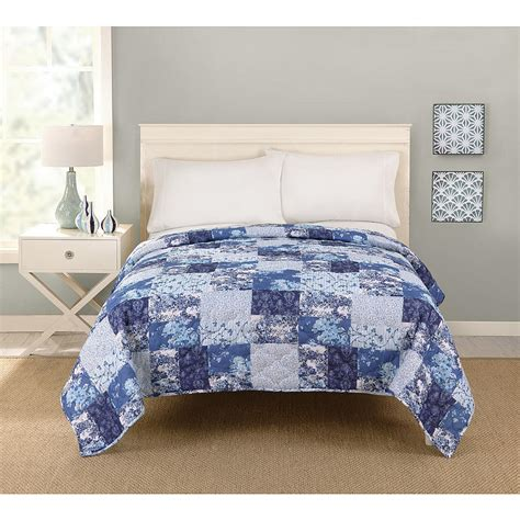 big fab find patchwork quilt blue comforter bedding