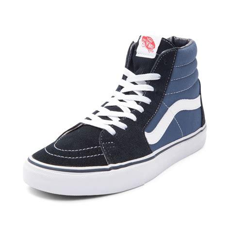 Vans Sk8 Hi Navy vans sk8 hi skate shoe blue 498068