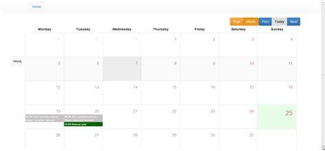 bootstrap calendar template bootstrap calendar template calendar template 2018