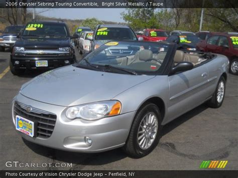 2006 Chrysler Sebring Touring Convertible by Bright Silver Metallic 2006 Chrysler Sebring Touring