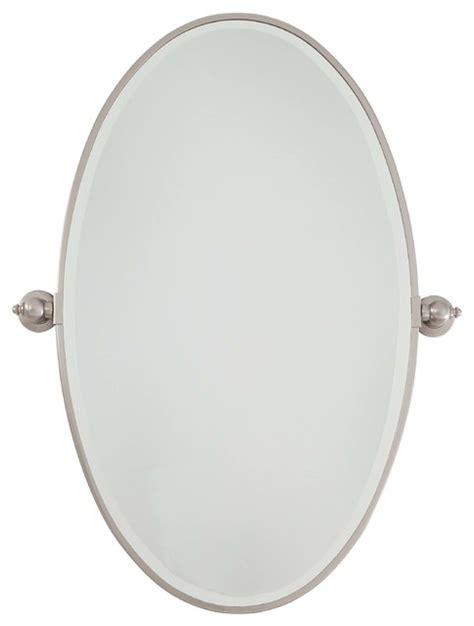 minka lavery brushed nickel extra large oval pivoting minka aire minka lavery pivoting mirror brushed nickel