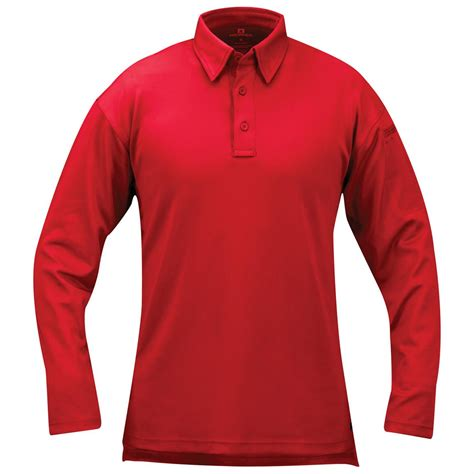 Poloshirt Lengan Panjang Black breathable polo shirt sportsmansguide sportsman s