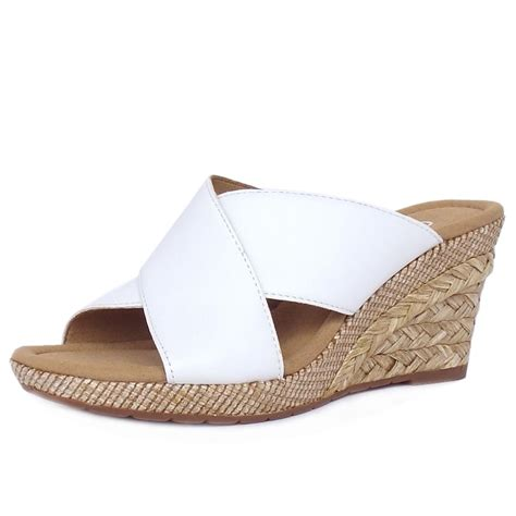 leather mule sandals gabor purpose s comfortable wide mule sandals in