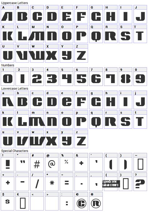 character map generator contour generator font fonts4free