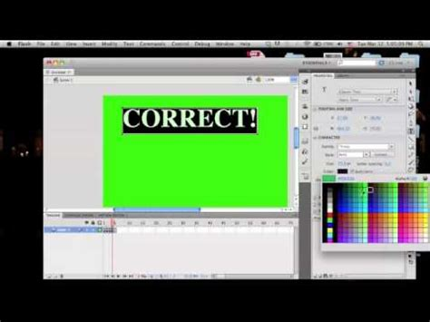tutorial for flash cs5 beginners tutorial basic quiz game adobe flash cs5 5 youtube