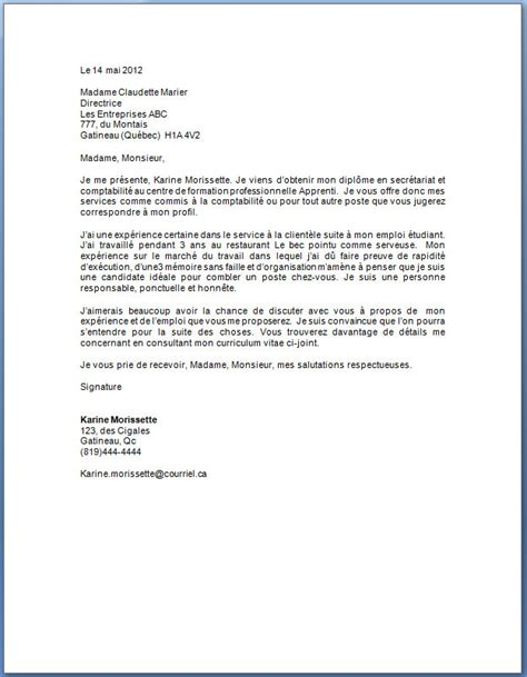 Exemple De Lettre De Motivation Québec Lettre De Motivation Le Dif En Questions