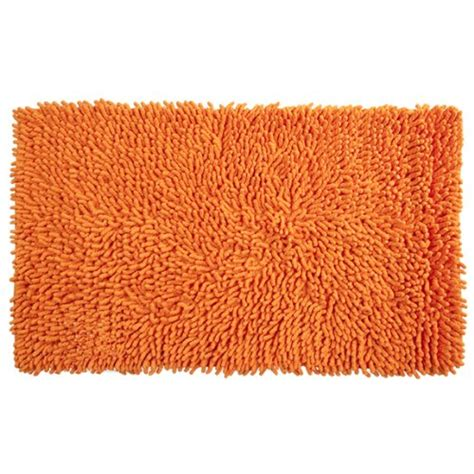 Orange Bathroom Rug with Orange Bathroom Decor