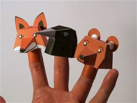 How To Make Finger Puppets With Paper - paper finger puppets to make with printable papercraft