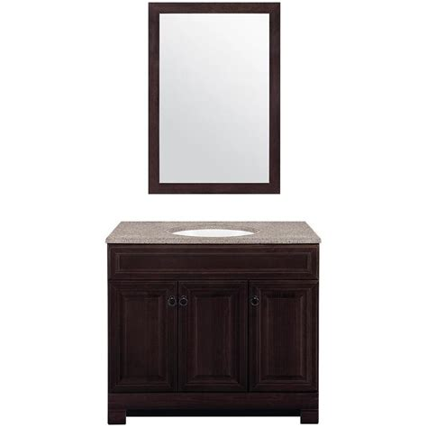 style selections bathroom vanity shop style selections gladmere java self rimming single
