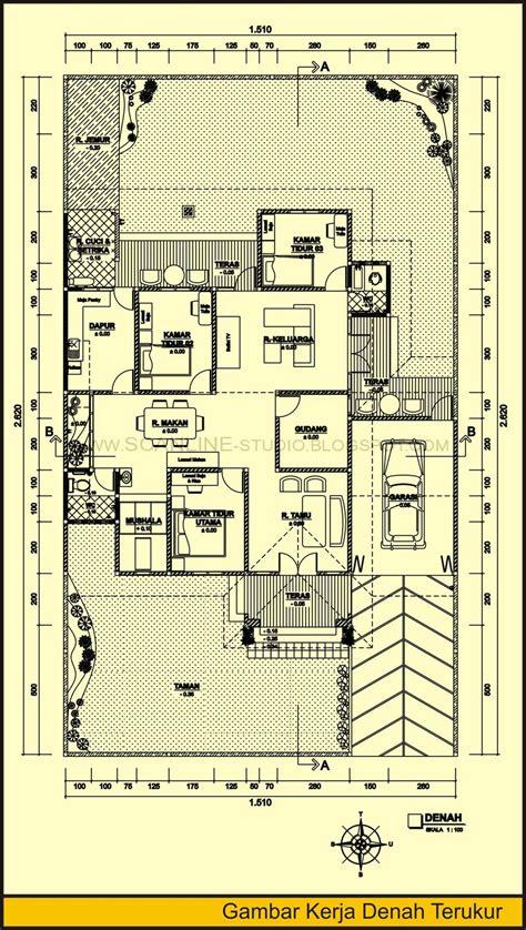 gambar dan denah rumah minimalis modern