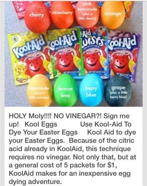 coloring eggs with kool aid easter