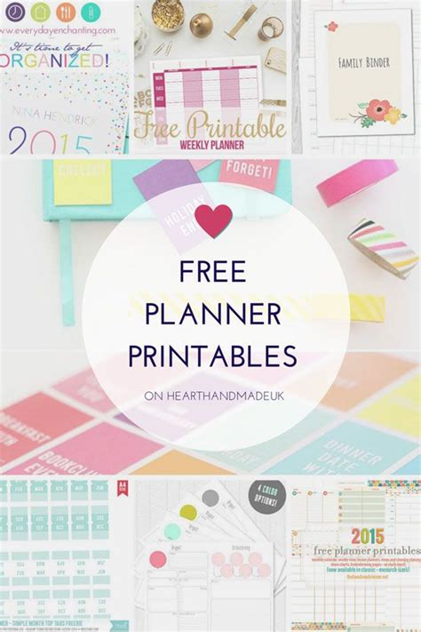 the handmade home printable planner for organizing things you require printable planners if