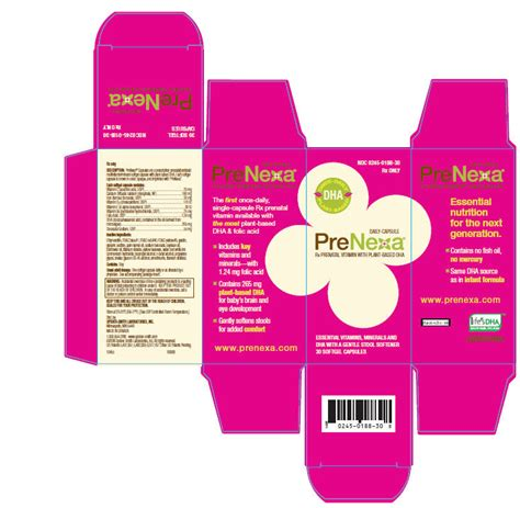 prenatal vitamin with stool softener generic prenexa 174 capsules
