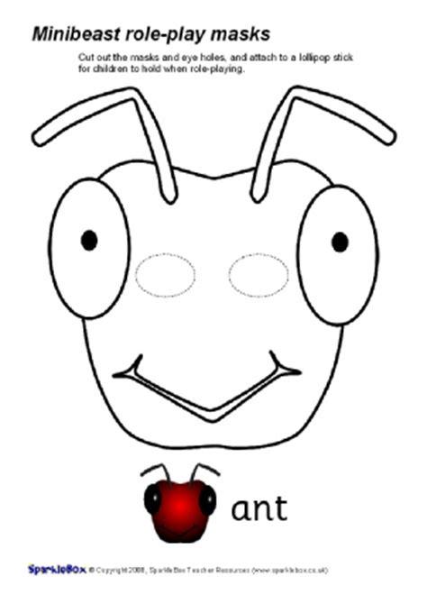 bug masks for templates eyfs ks1 printable animal masks sparklebox