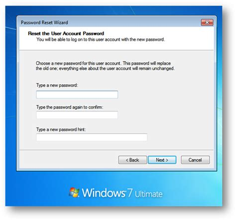 windows password reset usb flash drive create password reset disk using usb flash drive on