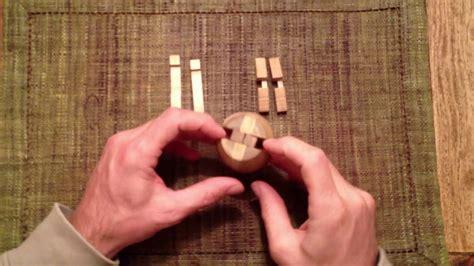 solution wooden barrel puzzle zusammenbau des