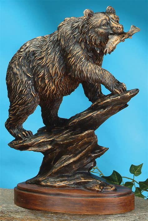 Bronze Style Bear Sculpture