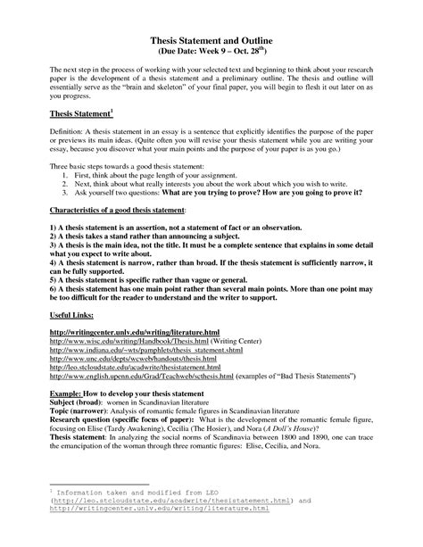 exle of a thesis statement for a research paper how to do a thesis paper outline research paper outline