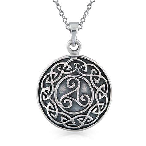 sterling silver celtic knot medallion pendant