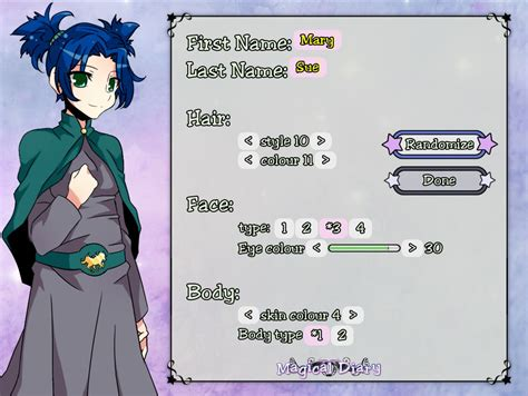 create your own character magical diary lives of the and wizardly