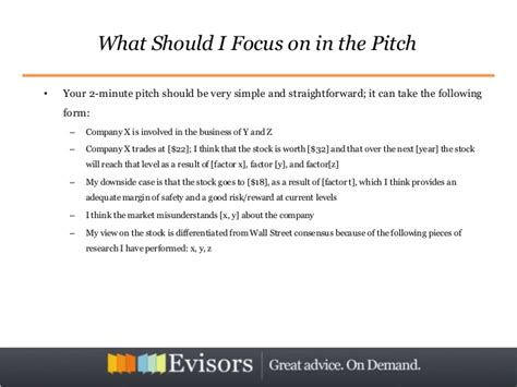 stock pitch template mastering the stock pitch