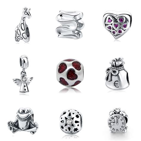 925 silver original clock angel Giraffe Bead Fit pandora Charms Style Bracelet Bangle DIY