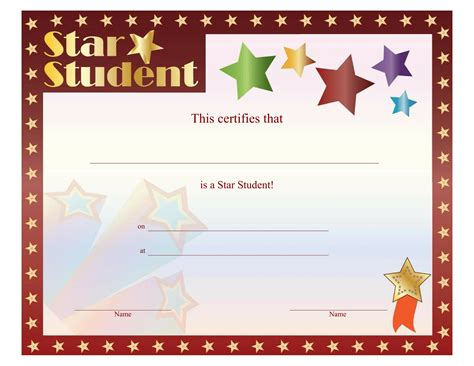 printable star awards certificates download free business letter templates and