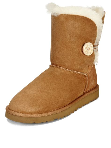 uggs boot ugg australia bailey button boots chestnut co uk