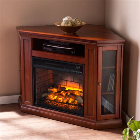 48 quot claremont corner media infrared fireplace brown