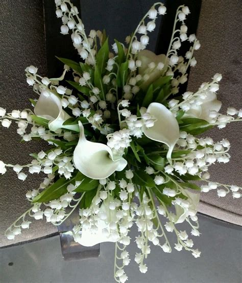 Wedding Bouquet Of The Valley by White Wedding Bouquet Bridal Silk Flowers Calla