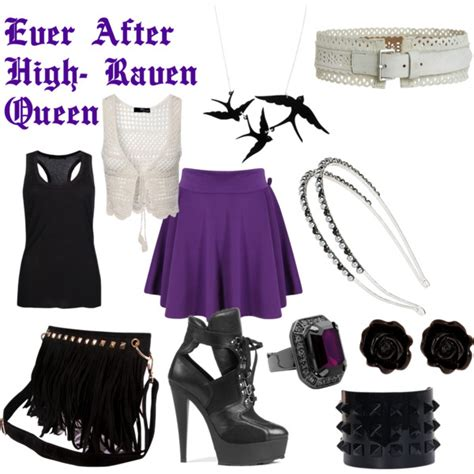 Ever After High Raven Queen Look   Polyvore