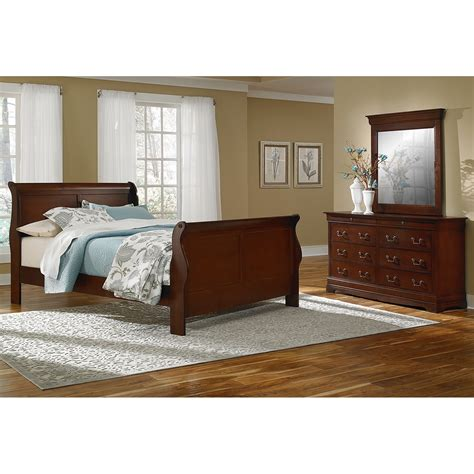 City Furniture Bedroom Set neo classic 5 piece king bedroom set cherry value city