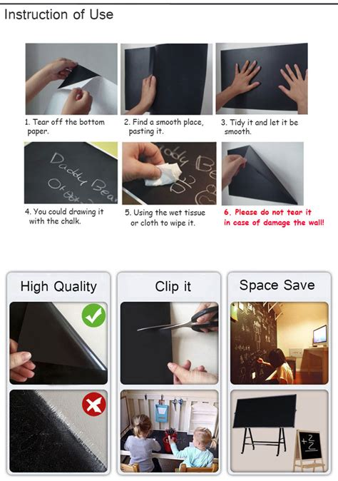 chalkboard paint malaysia price 13 23day delivery blackboard wall stickers room