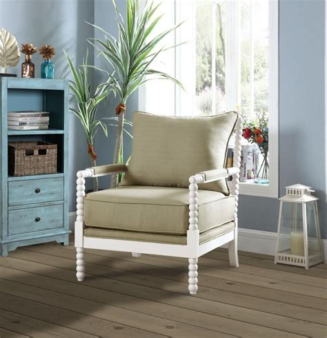 Living Room Chairs by Traditional Beige And White Accent Chair 903825 Living
