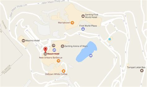 juness resort location map resort hotel genting highlands sense of freshness with