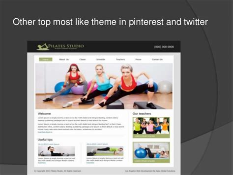 pattern auf website best yoga fitness and pilates website design 2016