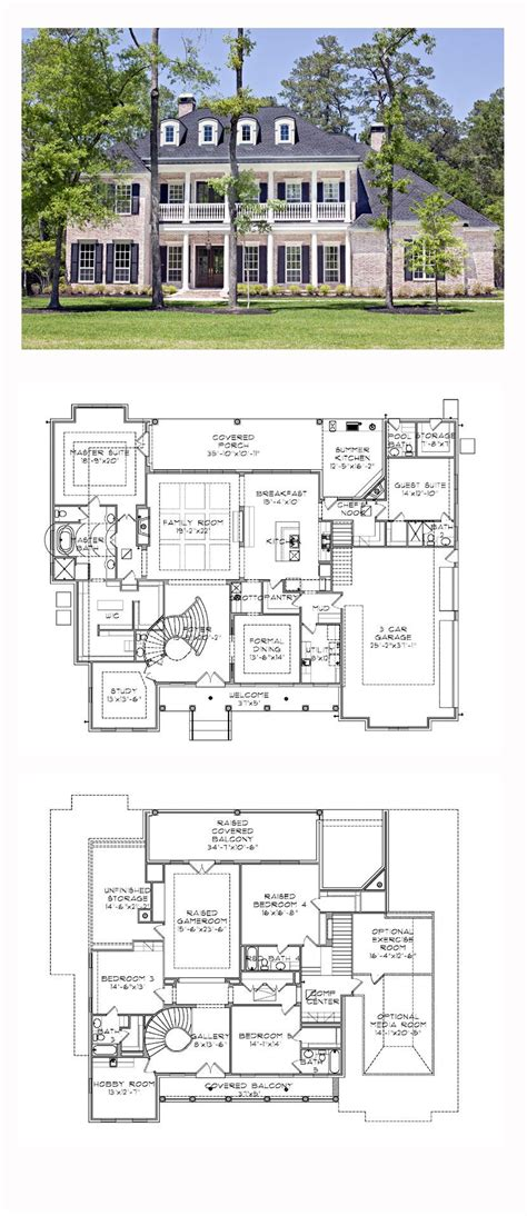 plantation home floor plans plantation house plan 77818 total living area 5120 sq ft 5 bedrooms and 5 5 bathrooms