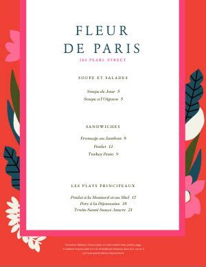 inspired french menu template designs musthavemenus