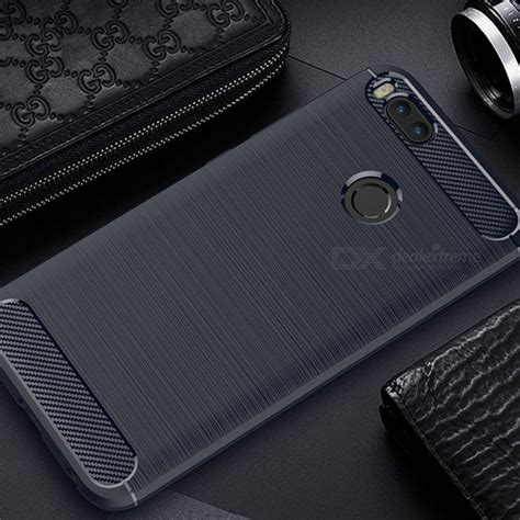 Soft Shining Carbon Fiber Xiaomi Mi A1 Mi 5x New Style naxtop wire drawing carbon fiber textured tpu brushed finish soft phone back cover for