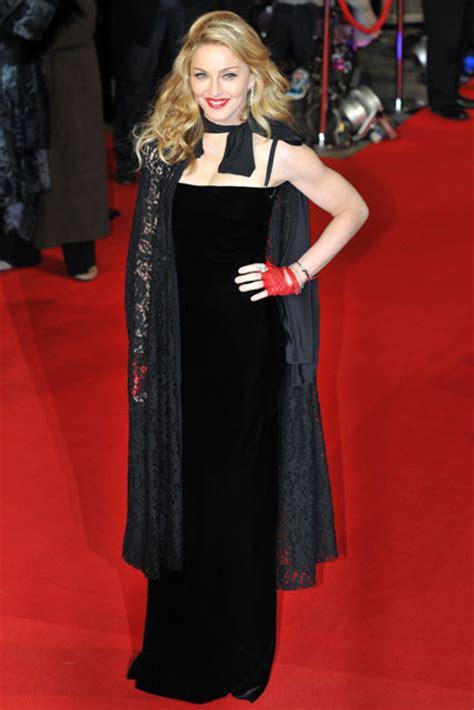 madonna hits  red carpet   premiere