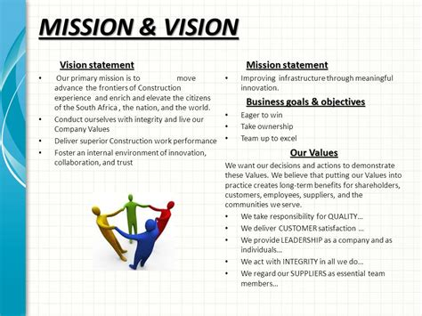 mission essential contractor services plan template wa road construction company profile ppt