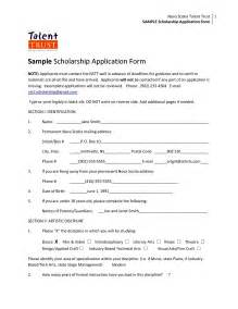 scholarship forms template scholarship application form template besttemplates123