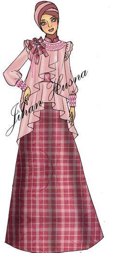 desain dress jihan husna desain baju pesta muslimah fashion design pinterest