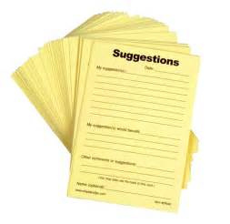 suggestion box template suggestion forms pad of 100
