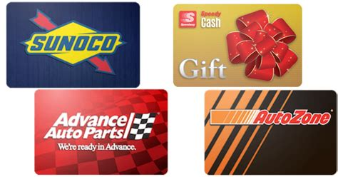 Raceway Gas Gift Cards - discounted gift cards for sunoco speedway advanced auto parts autozone save on