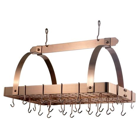 Copper Pot Rack by 30 In X 20 5 In X 15 75 In Satin Copper Pot