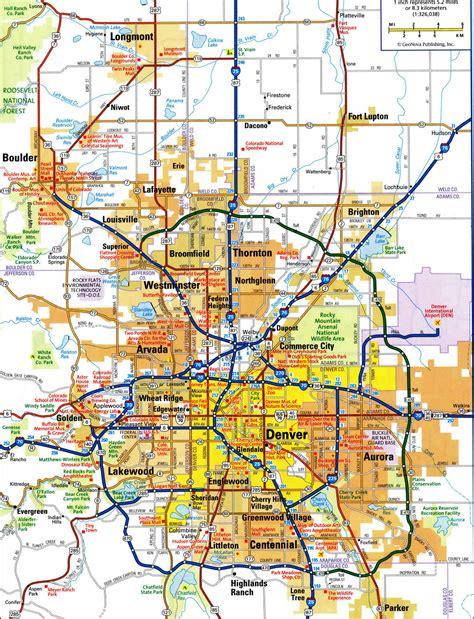 denver city map denver